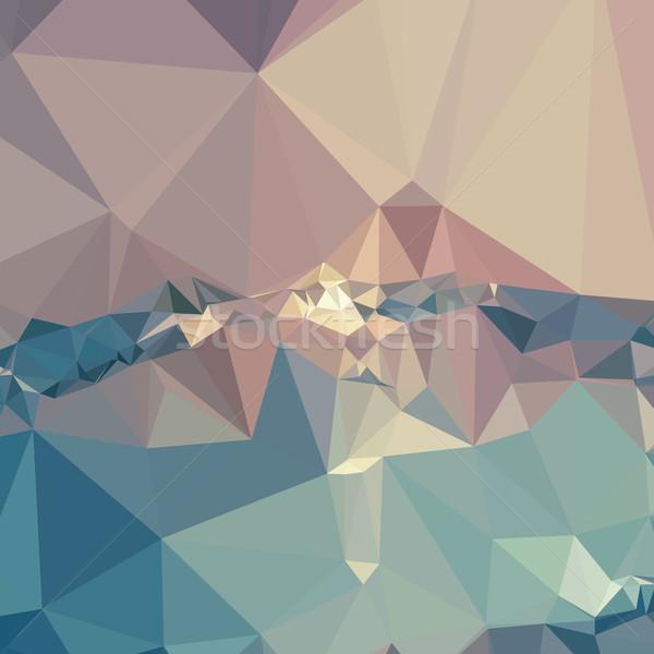 Opera leylak rengi soyut düşük çokgen stil Stok fotoğraf © patrimonio