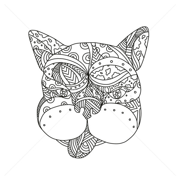 French Bulldog Doodle Art Stock photo © patrimonio