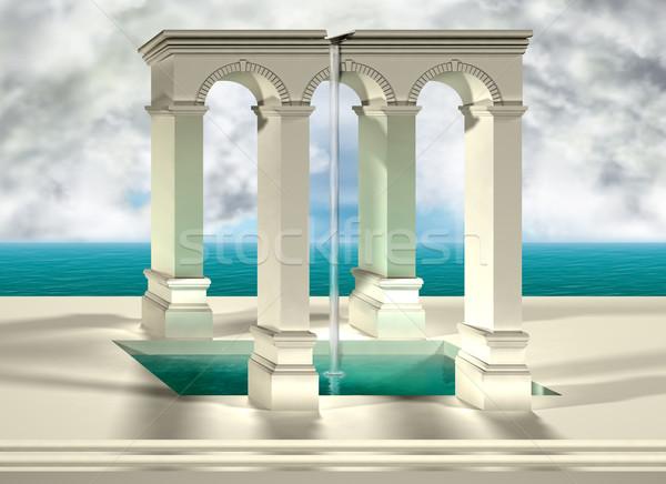 Origineel onmogelijk water hemel Stockfoto © paulfleet
