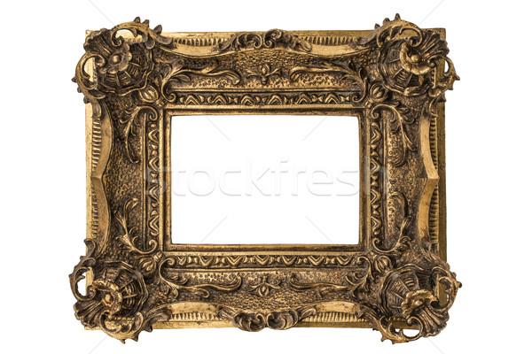 Faible cadre doubler cadre photo or frontière Photo stock © paulfleet