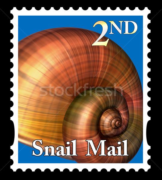 Snail mail stamp Stock photo © paulfleet