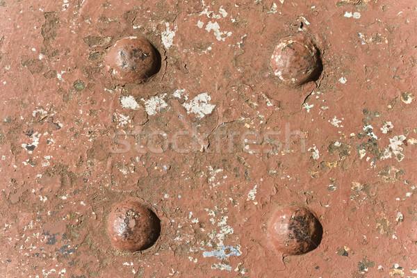Zardzewiałe żelaza nit tekstury struktury Zdjęcia stock © paulfleet