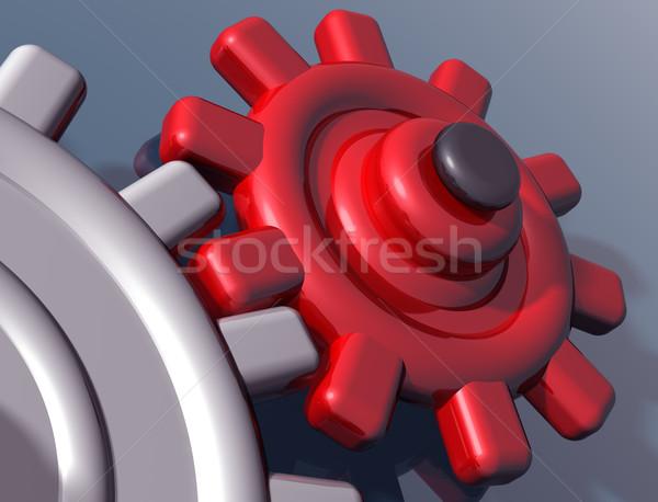 Brightly colored interlocking gears Stock photo © paulfleet