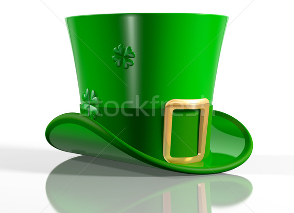 Haut chapeau illustration irlandais fête Photo stock © paulfleet