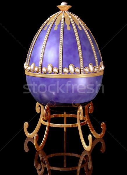 Highly decorative jeweled Russian Easter Egg Stock photo © paulfleet