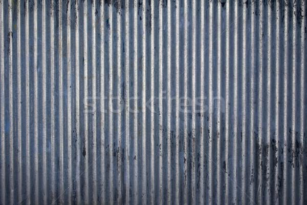 стали текстуры выветрившийся гальванизированный лист промышленных Сток-фото © paulfleet
