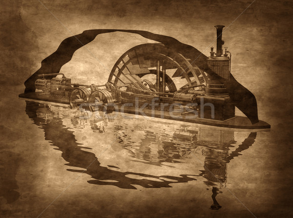 Grungy Steampunk Boat Stock photo © paulfleet