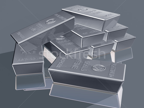 Platinum bullion Stock photo © paulfleet