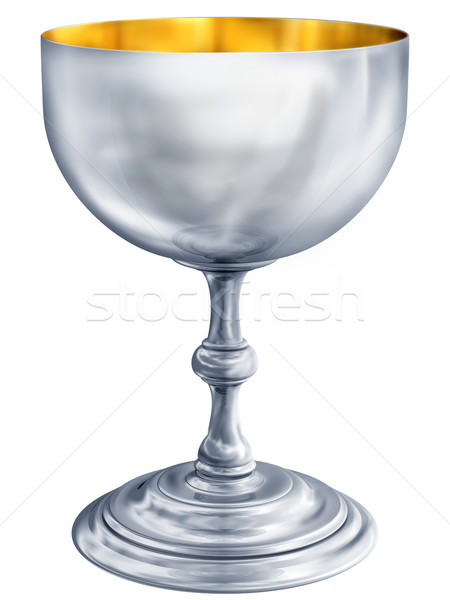 Argent calice illustration polie antique Photo stock © paulfleet