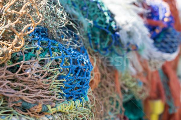 Colorful Fishing Nets Stock photo © paulfleet