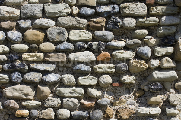 Ancient flint stone wall Stock photo © paulfleet