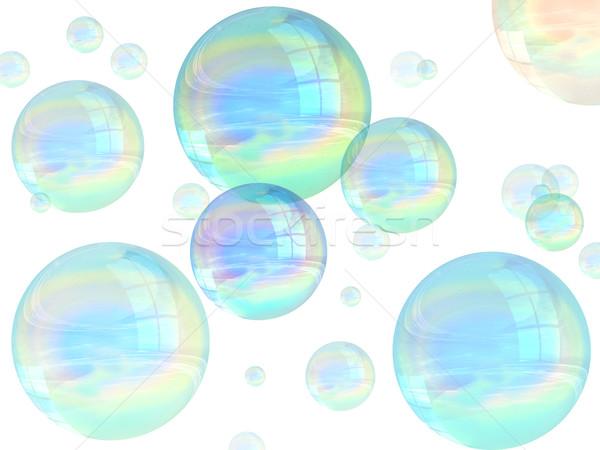 Bubbles ilustração muitos flutuante ar Foto stock © paulfleet