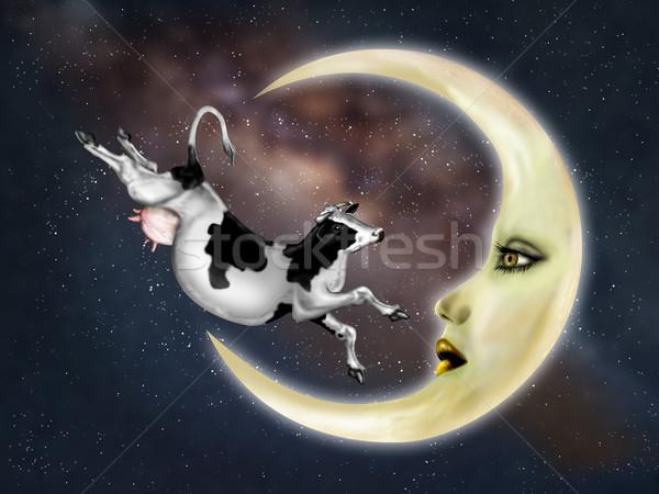Cow Jumped Over The Moon Stock photo © paulfleet