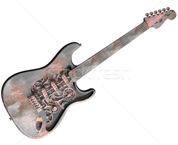Isolé vapeur punk guitare illustration sale Photo stock © paulfleet