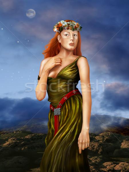 Pre Raphaelite Woman Stock photo © paulfleet