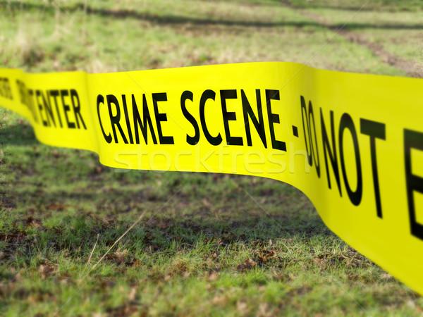Cena do crime fita usado criminal investigação Foto stock © paulfleet