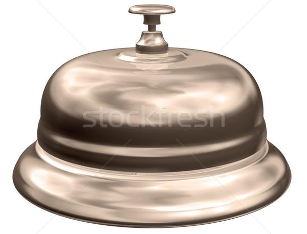 Seppia hotel campana isolato illustrazione vecchio stile Foto d'archivio © paulfleet