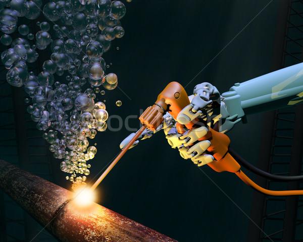 Stock photo: Deep sea maintenance