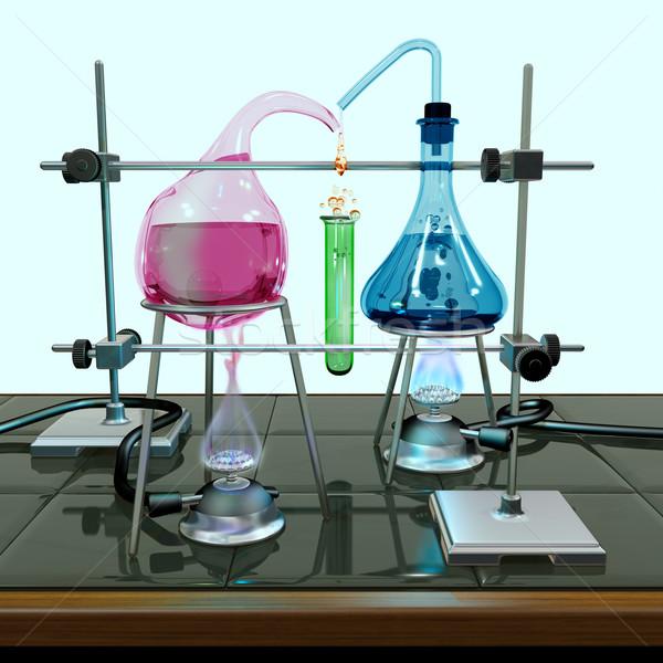 невозможное химии эксперимент иллюстрация оборудование стекла Сток-фото © paulfleet