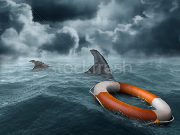 Lost at sea Stock photo © paulfleet