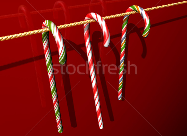 Different flavoured candy cane Stock photo © paulfleet