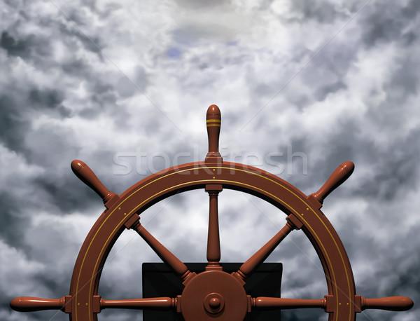 верховая езда Storm иллюстрация суда колесо устойчивый Сток-фото © paulfleet