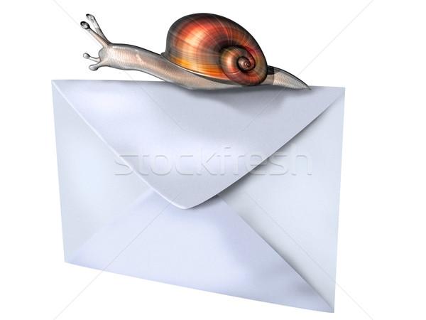 Melc poştă izolat ilustrare top plic Imagine de stoc © paulfleet
