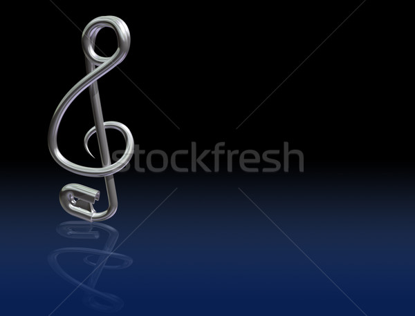 Safety Pin Treble Clef Stock photo © paulfleet