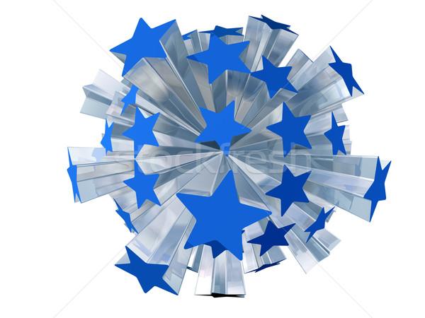 Robbanás kék csillagok izolált illusztráció csattanás Stock fotó © paulfleet
