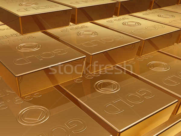 Gold bullion Stock photo © paulfleet