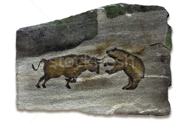 Сток-фото: бык · несут · Рынки · пещере · Живопись · искусства