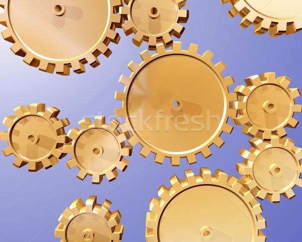 Cogs and gears Stock photo © paulfleet