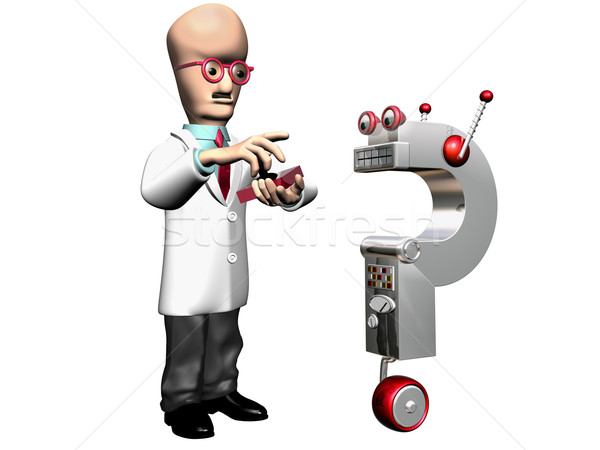 Inventeur isolé illustration professeur science cartoon Photo stock © paulfleet