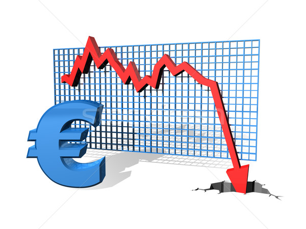 Relevant euros graphique valeur Finance Photo stock © paulfleet