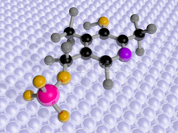 Moleculair wetenschap vitamine 3D gezondheid chemische Stockfoto © paulfleet