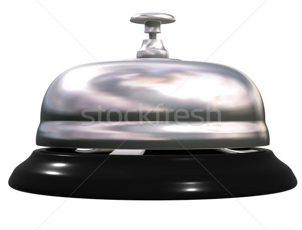 Argento tavola campana isolato illustrazione nero Foto d'archivio © paulfleet