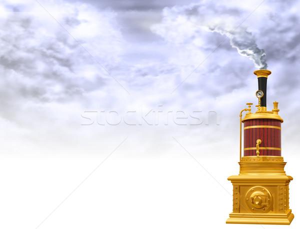 Steam boiler motif Stock photo © paulfleet