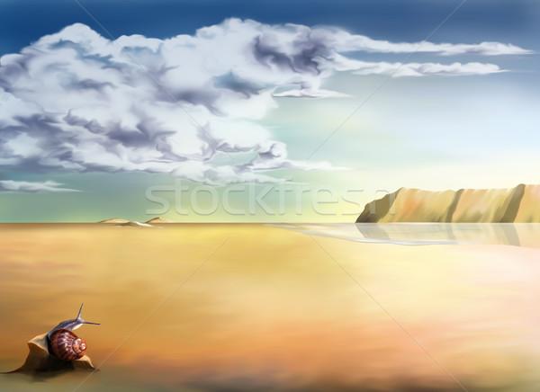 Landscape background Stock photo © paulfleet