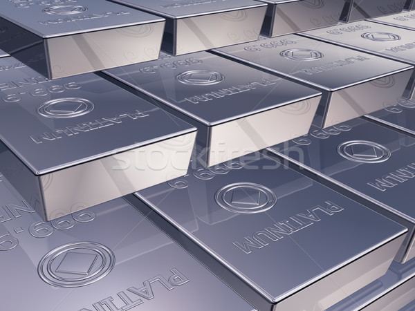 Platinum ingots Stock photo © paulfleet