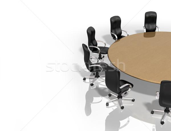Grupo reunião ilustração tabela conferência mobiliário Foto stock © paulfleet