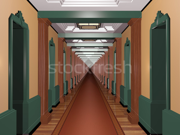 Never Ending Art Deco Corridor Stock photo © paulfleet