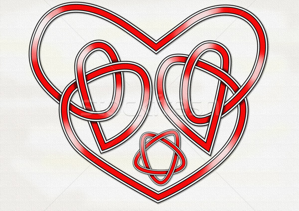 Celtic Heart Knot Stock photo © paulfleet