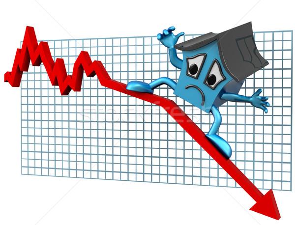 House prices down Stock photo © paulfleet