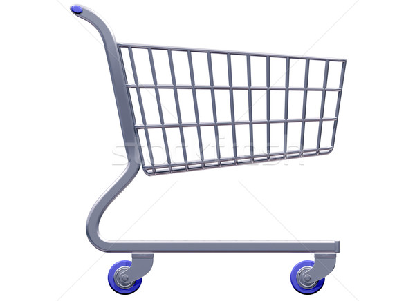 Stylized shopping cart Stock photo © paulfleet