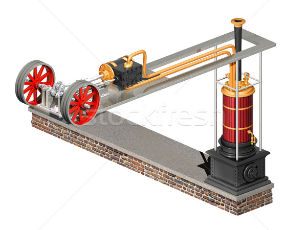 Impossible steampunk engine Stock photo © paulfleet