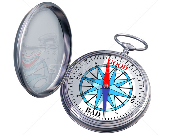 Isolated moral compass Stock photo © paulfleet