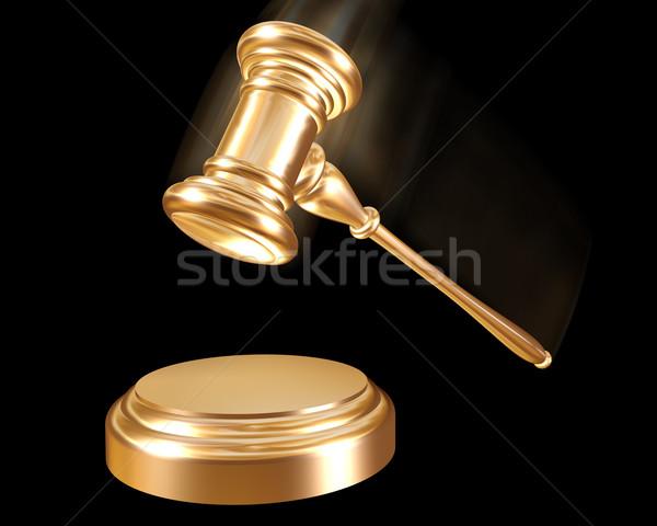 Gold gavel Stock photo © paulfleet
