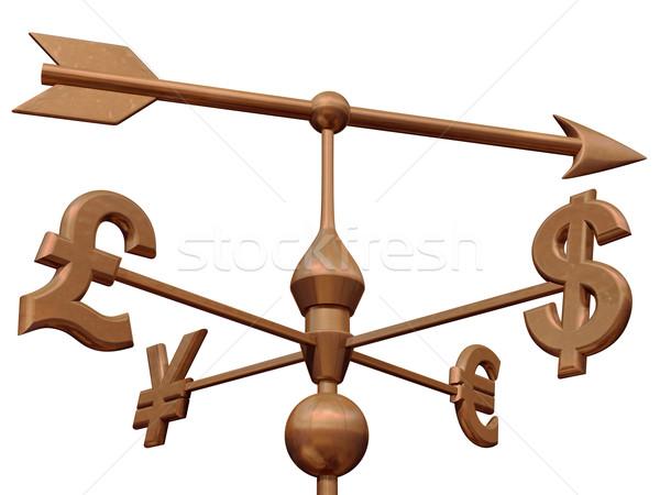 Para piyasası para semboller yön para Stok fotoğraf © paulfleet