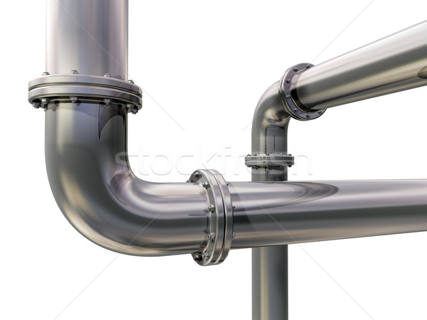 Pipeline Illustration zwei industriellen Rohre Technologie Stock foto © paulfleet