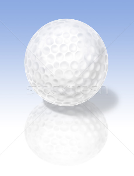 Golf ball on reflective surface Stock photo © paulfleet